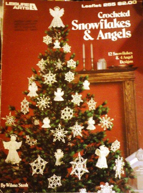 Christmas Angels Snowflakes Crochet Pattern Leisure Arts Leaflet 255