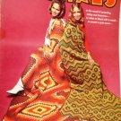Vintage Afghans Crochet Pattern Columbia Minerva 4 afghan designs