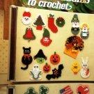 Crochet Pattern Holiday Fridgies Refridgerater Magnets Leisure Arts 328