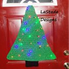 Christmas Tree Lighted Door Decoration Crochet Pattern