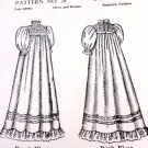 "Sewing Pattern for 1890's 12"" - 14"" Baby Doll Dress Carter Craft Doll House"