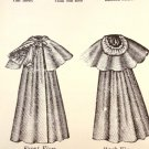 """Sewing Pattern for 1890's 12"""" - 14"""" Baby Doll Cloak Carter Craft Doll House"""