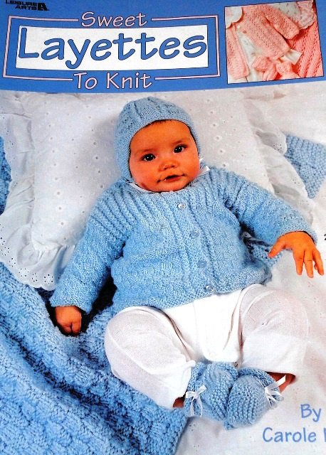 Leisure Arts 3145 Sweet Layettes to Knit Baby Outfits Knitting Pattern