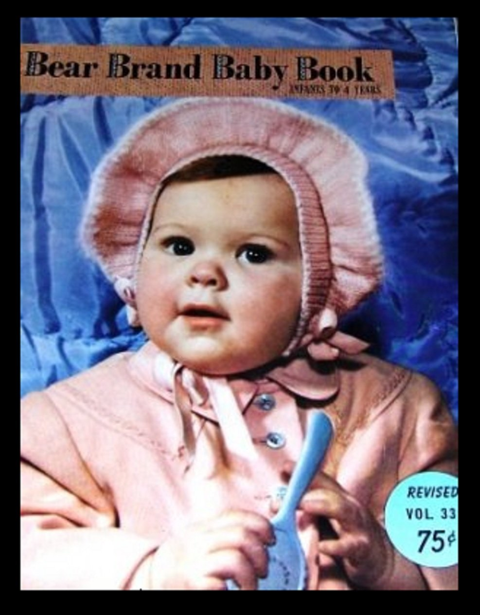 Vintage Knitting Pattern Bear Brand Baby Book Vol 339 Infants to 4 years.