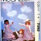 McCall's 7352 Doll Sewing Pattern with prairie clothes