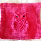 PDF Knitting Pattern Hootie Hoo Owl Dish Cloth by LaStade Designs