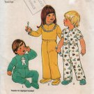 Simplicity 7067 Toddlers Footie Pajamas boy or girl size 2 Uncut