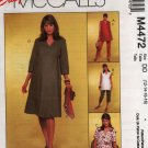 McCall's 4472 Maternity Pattern for Misses Top Dress Pants Size 12 14 16 18