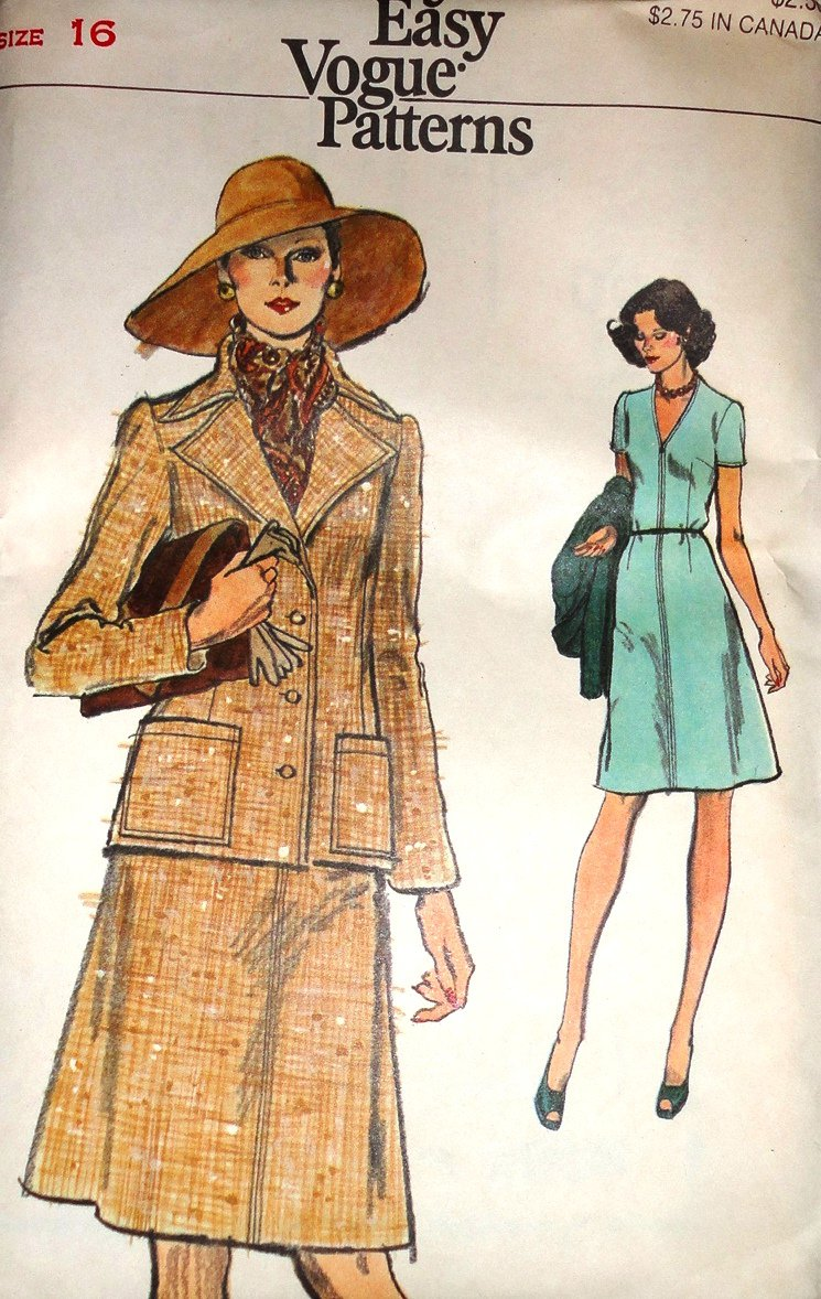Very Easy Vogue 8984 Dress and Jacket Size 16 Sewing Pattern