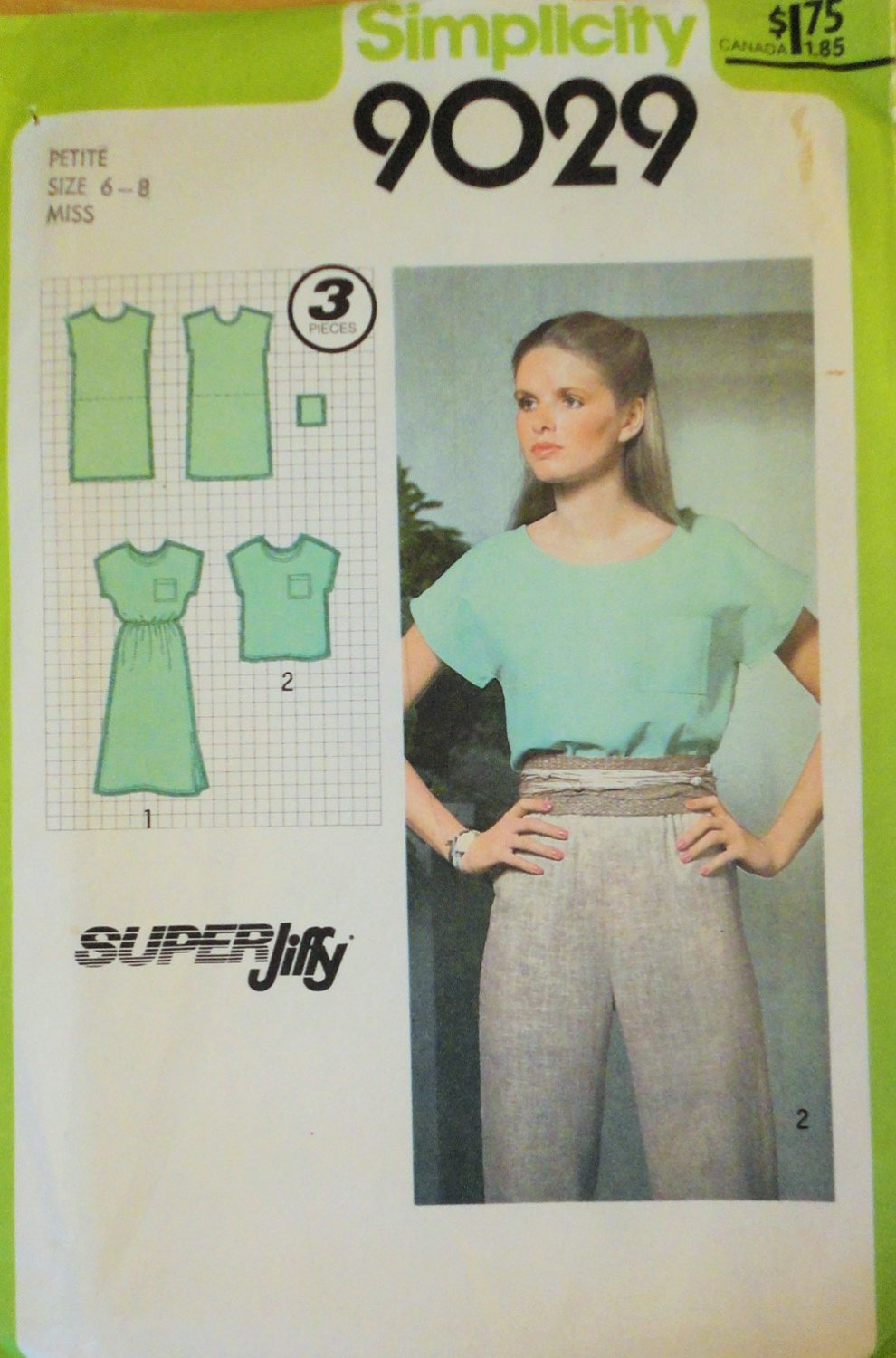 Simplicity 9029 Womens' Pull Over Dress or Top Sewing Pattern Size 6-8