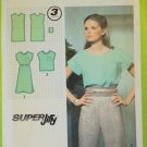Simplicity 9029 Vintage Pattern Womens' Pull Over Dress or Top Size 6-8