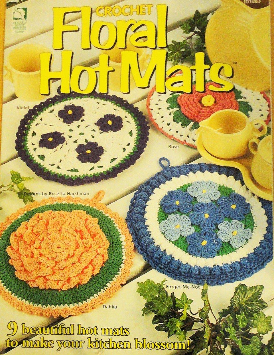 House of White Birches 101083 Crochet Floral Hot Mats Pot Holders