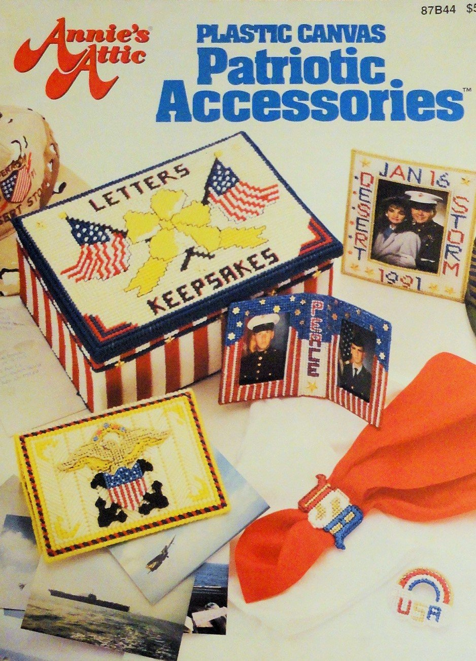 Patriotic Accessories Plastic Canvas patterns Annie's Attic 87B44