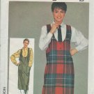 Simplicity pattern 6984 Misses Easy-to-sew jumper and shirt for sizes 6-8-10