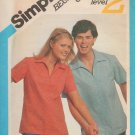 Simplicity 5226 1980s  Pullover Shirt UNCUT Sewing Pattern Chest 38 Beginners Choice