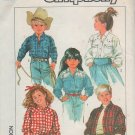 Simplicity Pattern 8368 Child's Loose-Fitting Western Shirt  Size 5