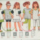 Butterick 4888 Stretch Knit Activewear Top Skirt Shorts Capris Pants Leggings PatternSize 2 3 4