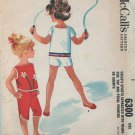 McCall's 6300 Child's Sports Separates: Top and Pedal Pushers Vintage Sewing Pattern Size 5