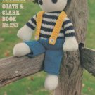 Toys to Knit Crochet Coats Clark book 283 Vintage knitting and crochet pattern