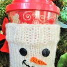 Snowman Cozy for Beverage Carafe Cup Knitting Pattern LaStade Designs