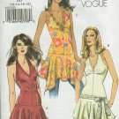 Vogue 8247 Halter top fitted to hip with handkerchief peplum long line Size 12-18 Uncut