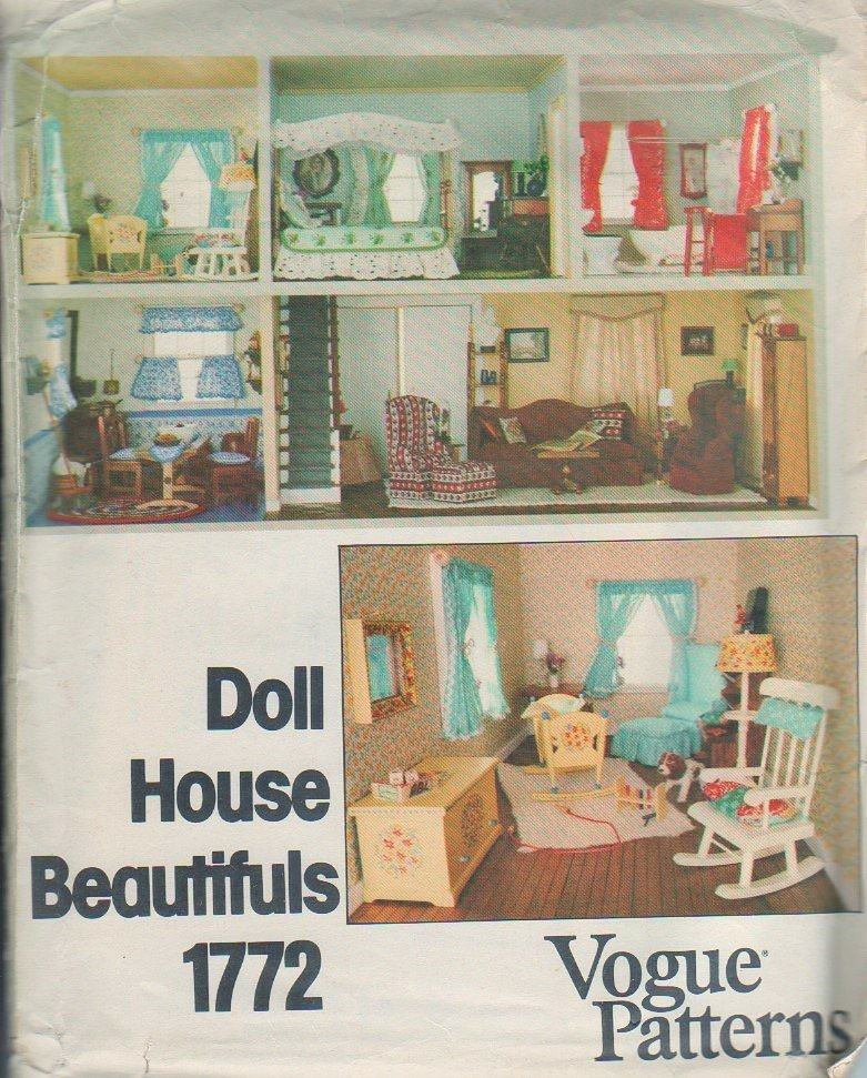 crafts that sell doll house vogue 1772 sewing pattern sofa chair and ottoman 1772