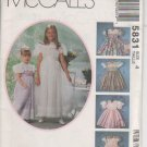 McCall's 5831 Girls' Flower Girl Pageant Special Occasion Party dress size 4 UNCUT