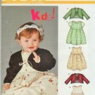 New Look 6237 Girls Gathered Waist Dress Bolero Jacket  New Born to Large Baby