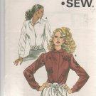 Kwik - Sew 1189 Misses' Blouse Shirt Sewing Pattern Size 14-20