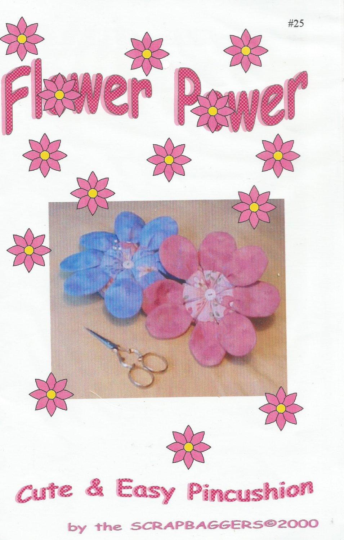 Flower Power Pincushion Sewing Pattern By Scrapbaggers