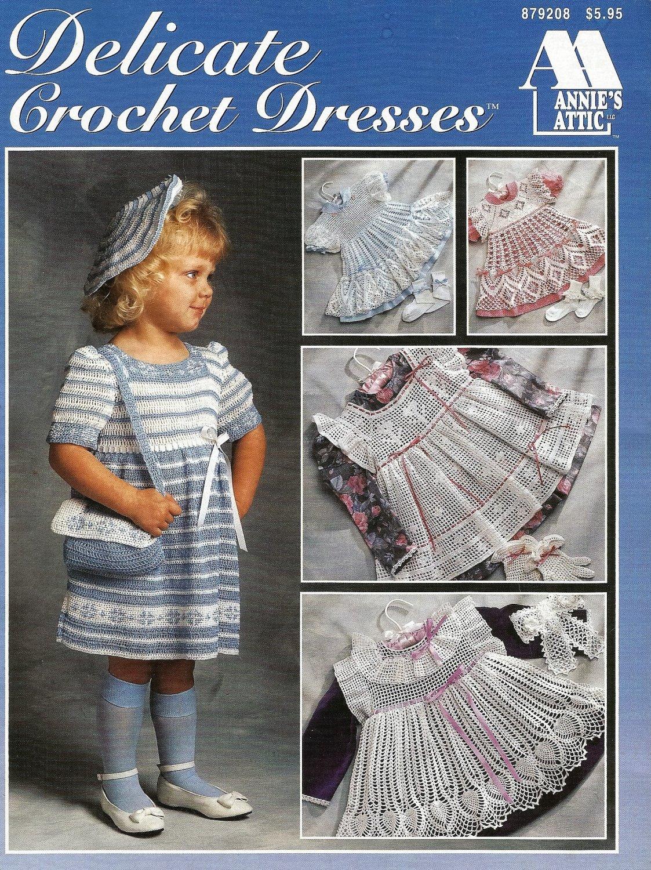 Annie's Attic Delicate Dresses Crochet Pattern 879208