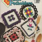 Quilt Pot holders hot pads trivets Annie's Attic 87P81 Crochet Pattern Instructions PotHolders