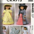 "McCall's Crafts 4485 18""  Doll Clothes Sewing Pattern  Vintage dresses"
