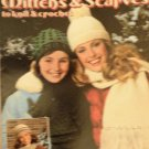 Knitting  and Crochet Pattern Hats Scarves Mittens Leisure Arts 186