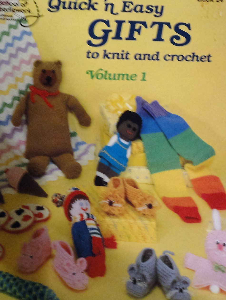 Quick 'n Easy Gifts knit crochet Vol. 1 American School of Needlework Crochet Bear bottle holder
