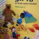 Quick 'n Easy Gifts knit crochet Vol. 1 American School of Needlework Crochet Bear bottle holder