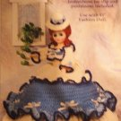Abigail Southern Bell Doll Gown Crochet Pattern  Fibre Craft FCM332