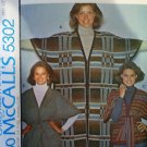 McCall's 5302  Misses unlined jacket or poncho Retro pattern from 1976