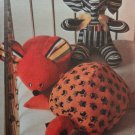 Butterick 3419 Vintage Sewing Pattern Stuffed  Animals Mouse elephant turtle