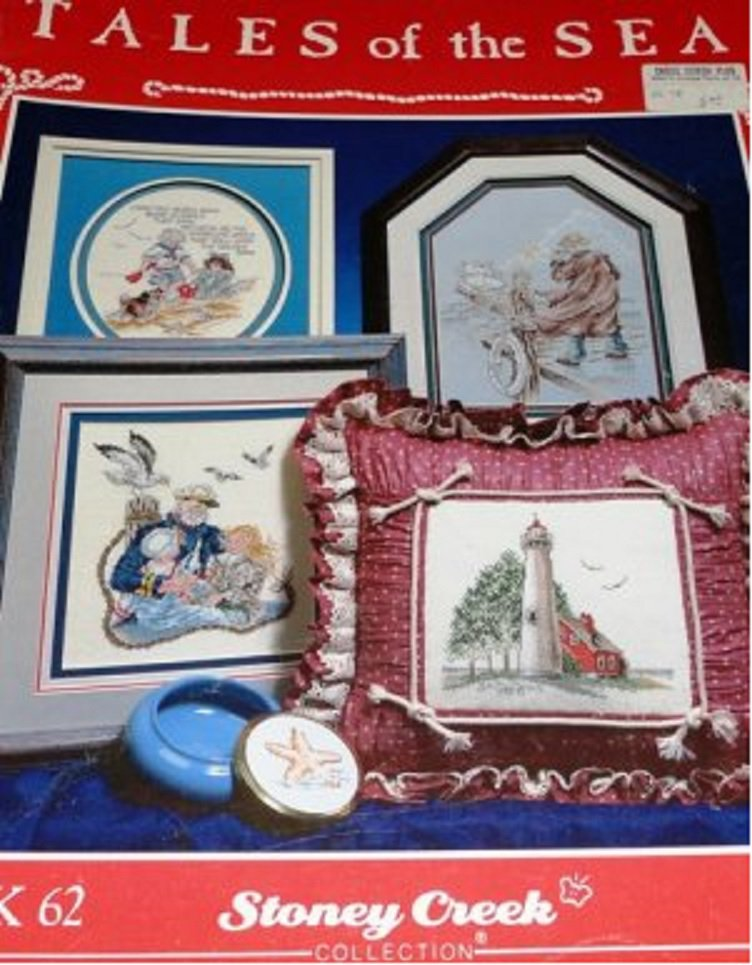 Tales of the Sea Stoney Creek Cross Stitch Book 62  Light House Nautical Themes