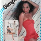 Simplicity pattern 5874 Diana Ross Misses swimsuit and cover-up cafton