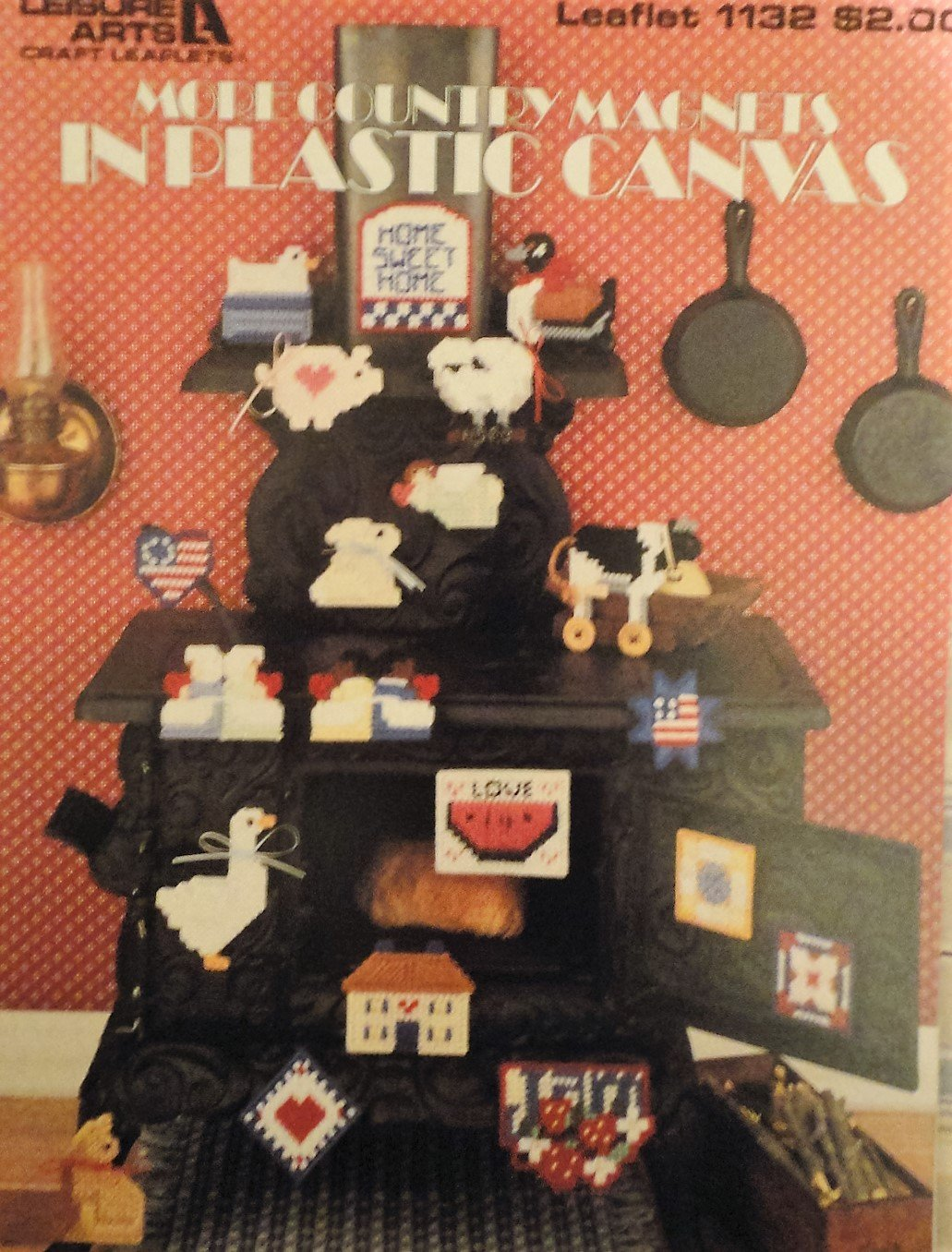 Plastic Canvas Pattern  More Country Refrigerator Magnets Leisure Arts 1132