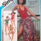 Simplicity Pattern 6390 Misses' Swimsuit Bikini Pullover Top Pareu  Oleg Cassini size 6 - 10