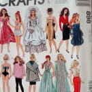 McCall's 898 Doll Clothes Wardrobe for fashion dolls Bridal gown, swim suit, evening gowns