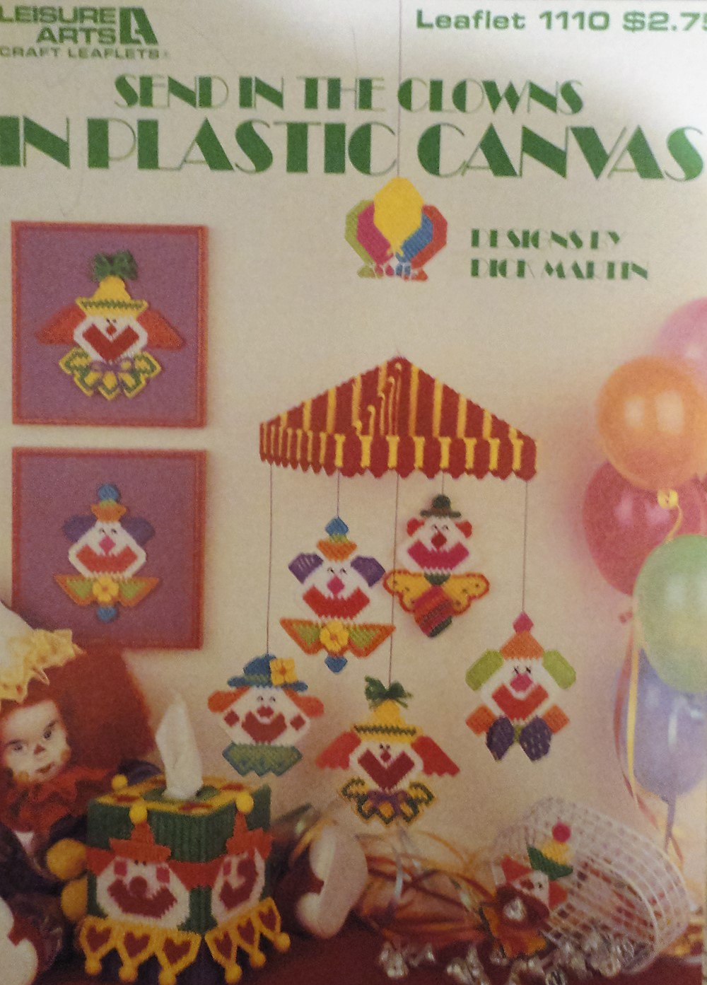 Plastic Canvas Send in the Clowns Designed by Dick Martin Leisure Arts 1110