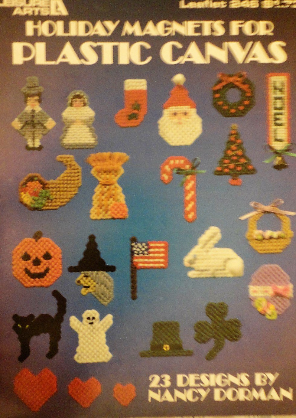 Plastic Canvas Pattern  Holiday Magnets Leisure Arts 246