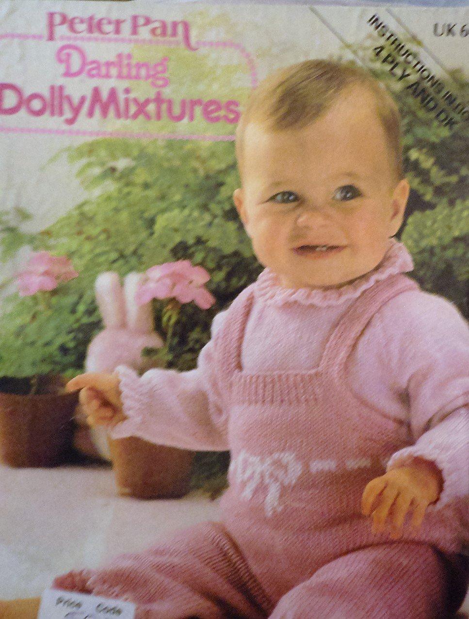 Peter Pan Baby Knits 5 Darling Dolly Mixtures Knitting Pattern  UK terms