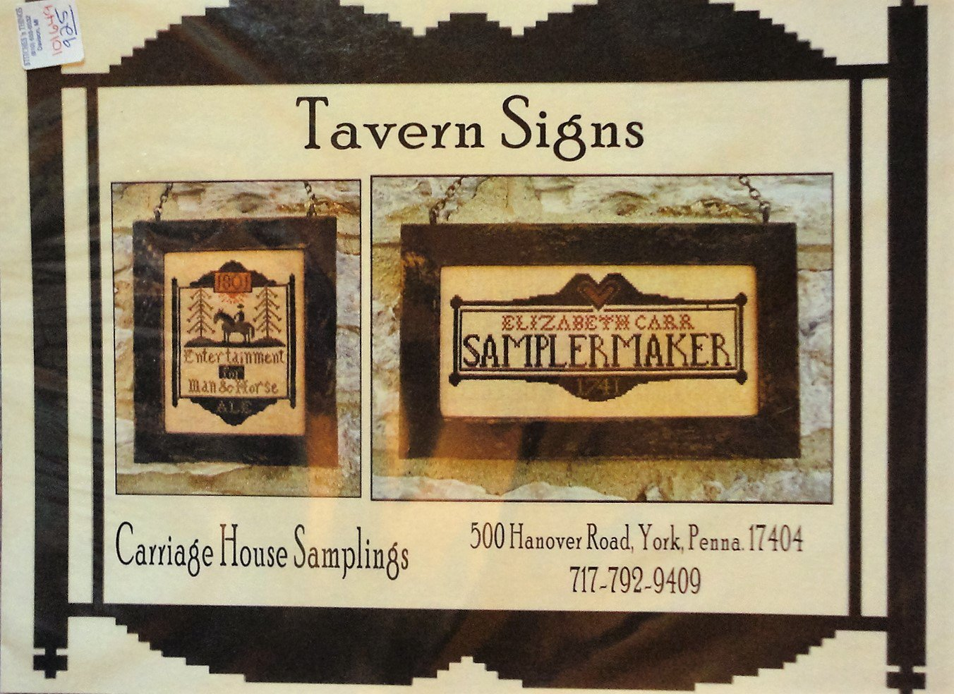 Carriage House Samplings Tavern Signs Cross Stitch Chart