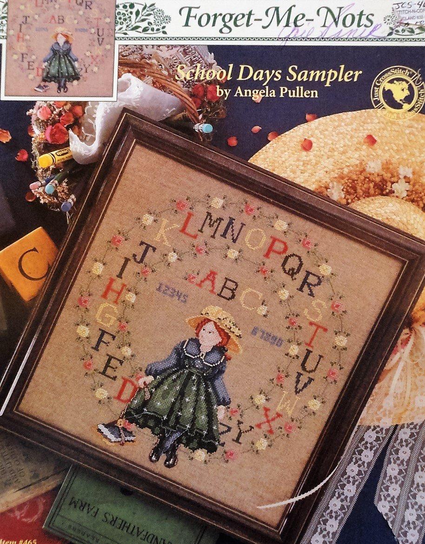 Forget - Me - Nots School Days Sampler Angela Pullen Just Cross Stitch