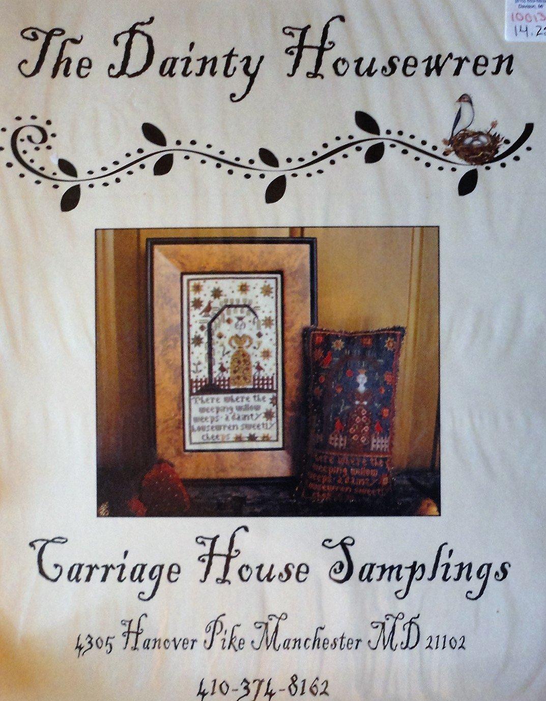 Carriage House Samplings The Dainty Housewren Cross Stitch Chart